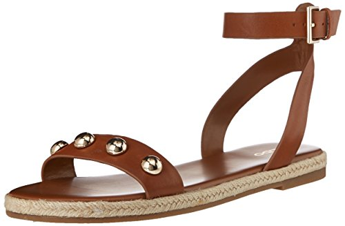 ALDO Women's Alaeniel Flat Sandal, Camel, 7 B US