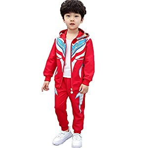 DTZW Kids Boy Hoodies Outfits Simulation Cartoon Character Children Set Zipped Top Trousers Clothes Sets Spring and…