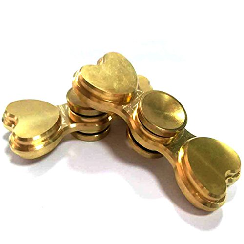 STRESS SPINNER Heart Shape Hand Spinner Stress Reducer EDC ADHD Fidget Toys with High Speed Ceramic Bearings for Anxiety, ADHD, and Boredom