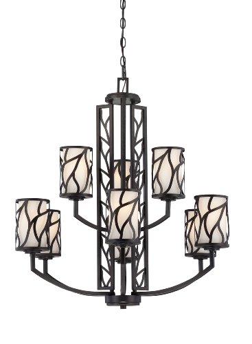 Art Glass Ceiling Light - Designers Fountain 83789-ART Modesto 9 Light Chandelier, 30