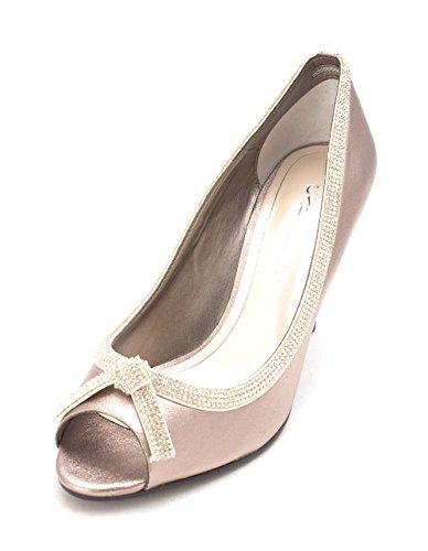 Caparros Womens Glow Peep Toe Classic Pumps Gold Metallic 3bWPPx