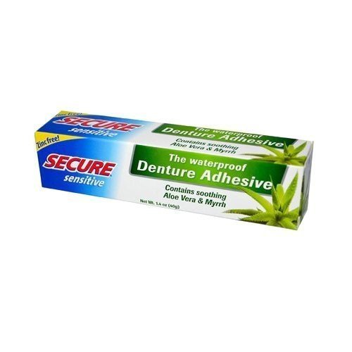 Secure Sensitive Denture Adhesive, 1.4 oz (Pack of 8)