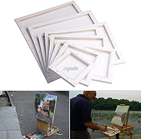 Painting Canvas Blank Cotton Canvas Panels Square Mounted Art Artist Boards Painting Tool Craft V2AMZ