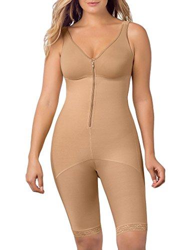 Leonisa Women's Full Bodysuit Slimming Shaper, Natural tan, XL