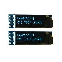 DSD TECH 2 PCS IIC OLED Display 0.91 Inch for Arduino ARM