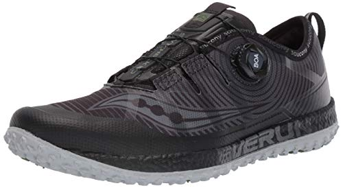 Saucony Men's Switchback ISO Trail Running Shoe, Black/Grey, 7.5 M US (Wolverine Trail Runner)