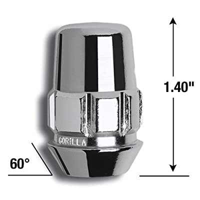Gorilla Automotive 71601N 14mm x 2.00 Acorn Lug Nut,Chrome: Automotive