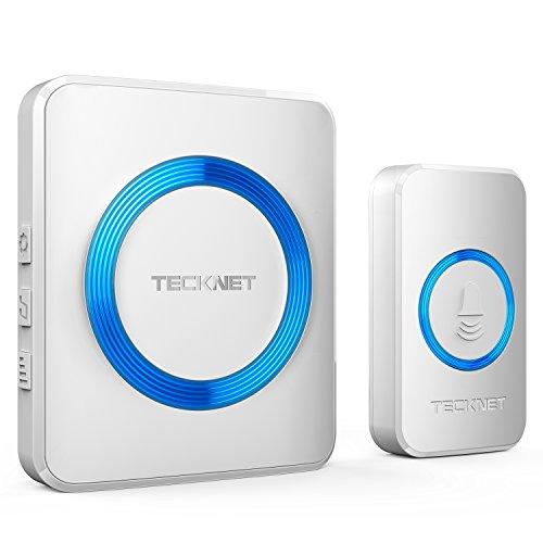 TeckNet Wireless Doorbell, Wall Plug-in Cordless Door Chime Kit With 300m...