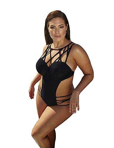 Ashley Graham x swimsuitsforall Liaison Swimsuit 132607-BLAC-0001