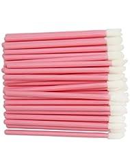 300 Pack Lip Gloss Applicators Disposable Lipstick Wands Bulk Lip Brush Makeup Tool Set, Pink