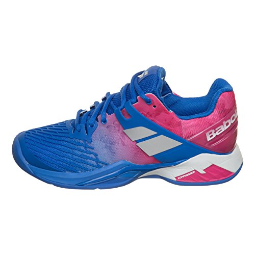 shoe Clay court 4 Women Women Pink Blue Babolat Clay Tennis shoes Propulse Fury U1xqnTOz
