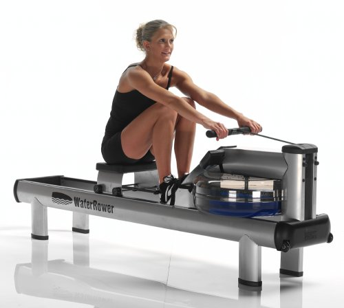 WaterRower M1 HiRise Rowing Machine with S4 Monitor