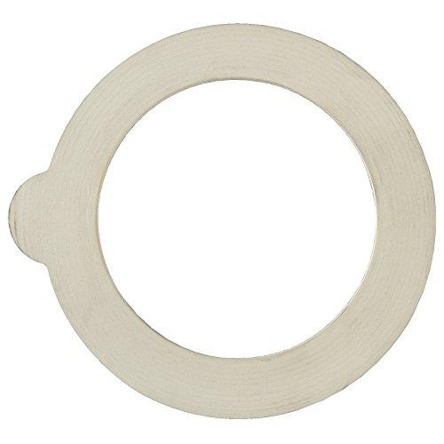 "Bormioli Rocco 6 piece Fido Jar Replacement Gaskets, 3.5"", White"