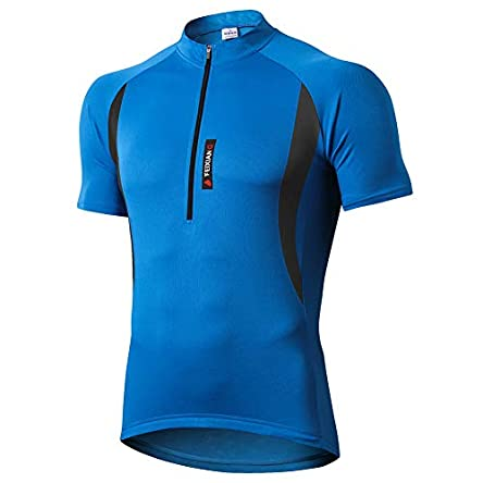 FEIXIANG Cycling Jersey for Men,Zipper Cool Dry Bike...