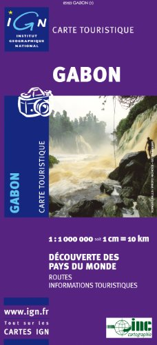 Gabon Map 1:1M (French Edition) IGN