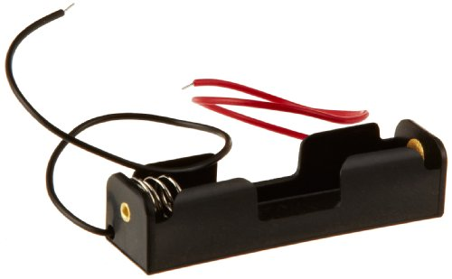 Ajax Scientific Battery Holder with Lead Wire, 1x AA Cell (Pack of 10)