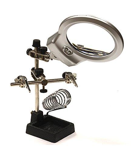 Integy RC Model Hop-ups C23962 Soldering Workstation Stand w/LED Light & Magnifying Glass