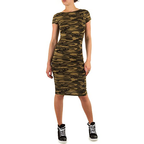 Ital-Design - Vestido - para mujer Grün Braun