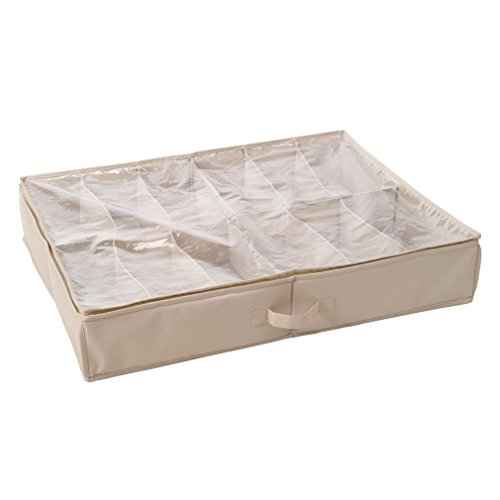 Storagemaniac Durable 12 Pair Underbed Shoe Organizer With