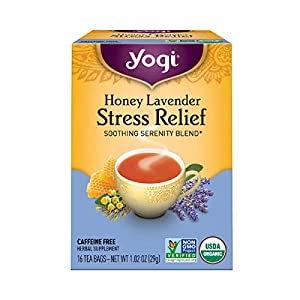 Well-Being-Matters 41dxfbLB7sL._SS300_ Yogi Tea Herbal Stress Relief, Honey Lavender 16 ct