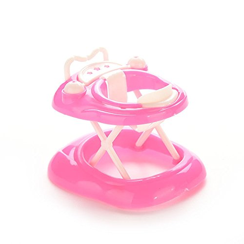 1x Plastic Pink Baby Walker for Barbie doll Dollhouse Accessories 5cm x 7cm x 6cm