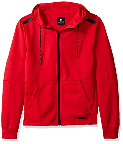 - Southpole Men's Tech Fleece Hooded Tops (Full-Zip, Pullover), Red(Ribbed Waist), X-Large