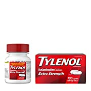 Tylenol Extra Strength Caplets with 500 mg Acetaminophen Pain Reliever Fever Reducer, 100 Count