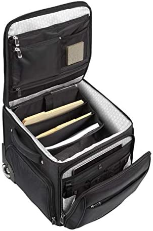 """Ativa Ultimate Workmate Rolling Briefcase with 15"""" Laptop Pocket, Black"""