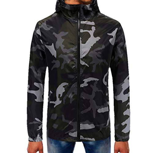 Corriee Men Hoodies Mens Autumn Camouflage Zipper Hooded Sweatshirt Casual Long Sleeve Fashion Pullover Tops Blouse by Corriee Men Hoodies