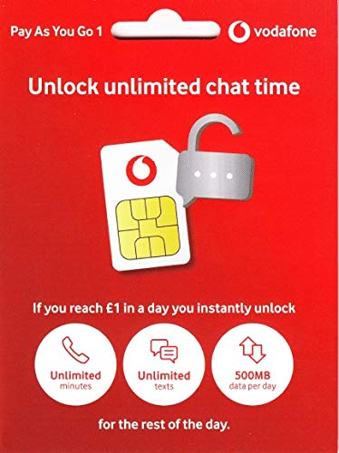 Vodafone Payg Top Up >> Amazon Com Uk Vodafone Sim Card Fast 4g Data Unlimited Mins And