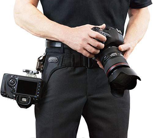 Spider Camera Holster SpiderPro Dual Camera System v2 (DCS), Belt System with Holsters for Two DSLRs, and Camera Cleaning Bundle by SpiderHolster (Image #6)