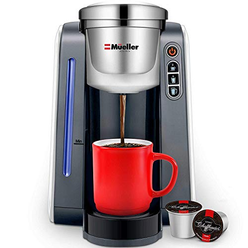 Mueller Ultima Single Serve K-Cup Coffee Maker, Coffee Machine with Four Brew Sizes for Most Single Cup Pods including 1.0 & 2.0 K-Cup Pods, Rapid Brew Technology with Large Removable 45 OZ Water Tank