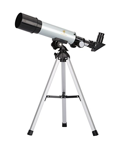 GEERTOP 90X Portable Astronomical Refractor Tabletop Telescope, 360X50mm, For Kids Sky Star Gazing & Birds Watching GEERTOP