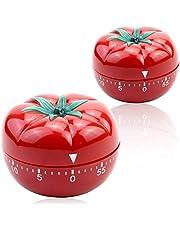 Qinos Kitchen Timer Baking Alarm Clock,Tomato Reminder Mechanical Countdown Timer,360 Degree Mechanical 60 Minutes Timer