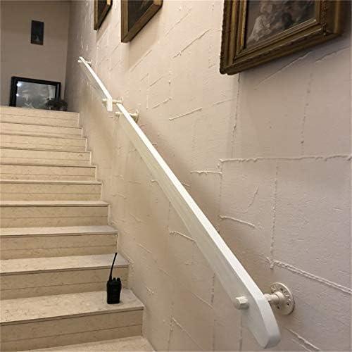 Leah- Barandilla de Escalera de Madera Maciza Blanca, Segura para Ancianos y niños, Adecuada para Loft, Hospital, jardín de Infantes, Varios tamaños: Amazon.es: Hogar