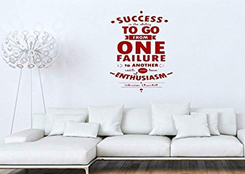 Mural Decal DIY Art Success is The Ability to Go.Winston Churchill Home Decor Wall Decals Decor Vinyl Sticker SK18644