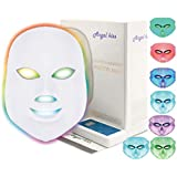 Angel Kiss 7 Color Led Face Mask,Photon Red Light Therapy for Skin Rejuvenation,Whitening,Collagen,Anti Aging,Wrinkles,Acne Reduction,Korean PDT Skin Care Facial Mask