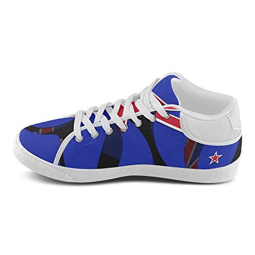 InterestPrint The Flag of New Zealand Chukka Sneakers Women Canvas Shoes Bpv0iy
