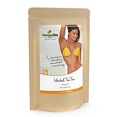 Detox Tea For Weight Loss & Fat Belly - Free Teatox eBook - 100% Natural & Organic - Detox Cleanse - Like Fit Tea, Skinny Tea, Tea Detox, Diet Tea - 30 Big 5g Bags - # 1 Weight Loss Tea from Herbal Tea Direct
