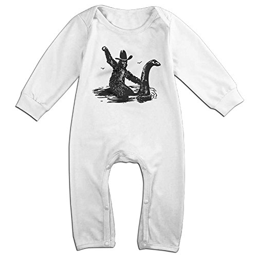 Bigfoot Riding On Nessie Baby Onesie Romper Jumpsuit (Bigfoot Suits)