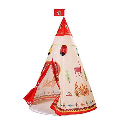 Teepees Natural Indian Pattern Children Play Tent Portable Toy Playhouse