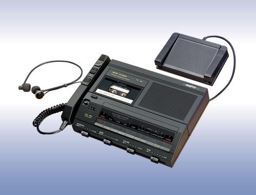 Minicassette transcriber SYOTRC7600 black Sanyo TRC-7600