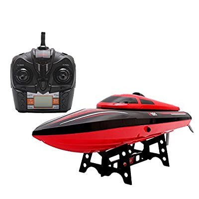 Remote Control Boat,Babrit Tempo 1 2.4GHz High Speed Remote Radio Control Electric Boat RC Boat- Only Works In Water (Upgrade Version-Bigger Size)