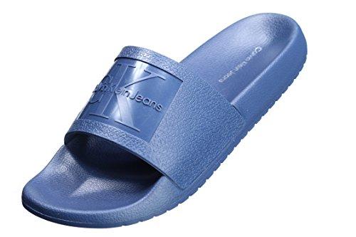 Blue Jelly Calvin Femme Bleu Steel Christie Klein Mules 8qqaw1UY