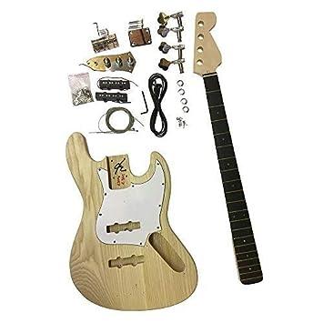 gd309 Eléctrica Bajo Jazz Hazlo tú mismo Guitarra Kit Cuerpo de fresno Kits Para Luthier proyectos DIVERTIDO: Amazon.es: Instrumentos musicales