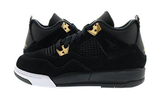 Jordan 4 Retro BP Little Kid's Shoes Black/Metallic Gold/White 308499-032 (3 M
