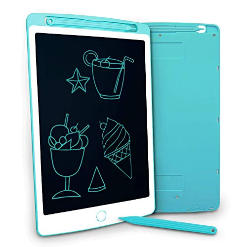 LCD Writing Tablet, Jonzoo 8.5 inch Mini Electronic Doodle Board Kids Drawing Board, Digital Handwriting Pad with Screen Lock, erasable reusable eWriter Paper-saving Tool for Home/School/Office (Blue)