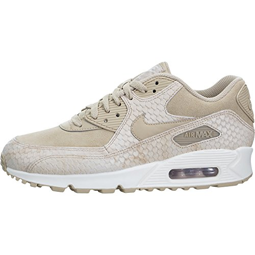 watch 425f0 5e372 Galleon - NIKE Wmns Air Max 90 Premium Lifestyle Sneakers Womens Linen Linen -Sail New 896497-200 - 8