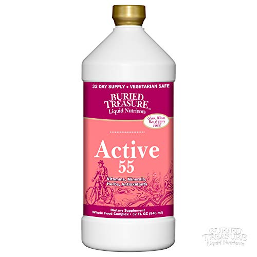 - Buried Treasure Active 55 Plus Daily Vitamins Minerals Antioxidants and Herbal Blend for Active Adults 32 oz
