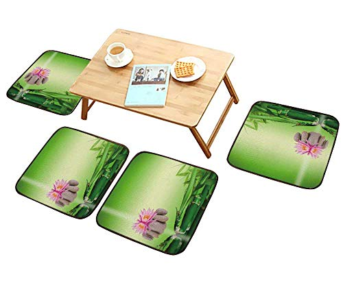 HuaWu-home Universal Chair Cushions Zen Garden Penang Malaysia Personalized Durable W15.5 x L15.5/4PCS Set (Foam Back Molded Mid)